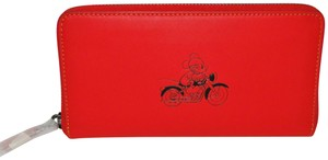 Coach Coach Mickey Mouse Ltd Edition Lg Zip Around Wallet