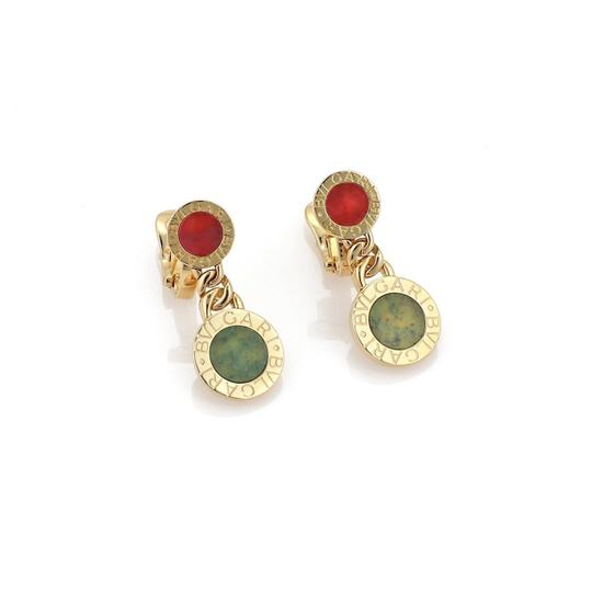 Preload https://item1.tradesy.com/images/bvlgari-jade-coral-18k-yellow-gold-double-circle-post-clip-earrings-23661360-0-0.jpg?width=440&height=440