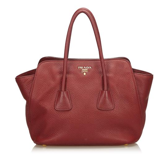 Prada 8fprst002 Satchel in Red