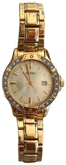 Preload https://item3.tradesy.com/images/seiko-gold-with-crystals-women-s-watch-bracelet-23661387-0-1.jpg?width=440&height=440