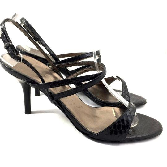 Salvatore Ferragamo Leather Gancini Patent Leather black Sandals