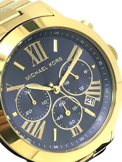 Preload https://img-static.tradesy.com/item/23661404/michael-kors-yellow-gold-mk5923-women-s-bradshaw-blue-dial-stainless-steel-watch-0-1-540-540.jpg