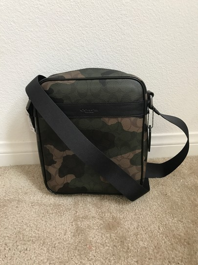 Coach F59913 Charles Flight Camo Cross Body Bag