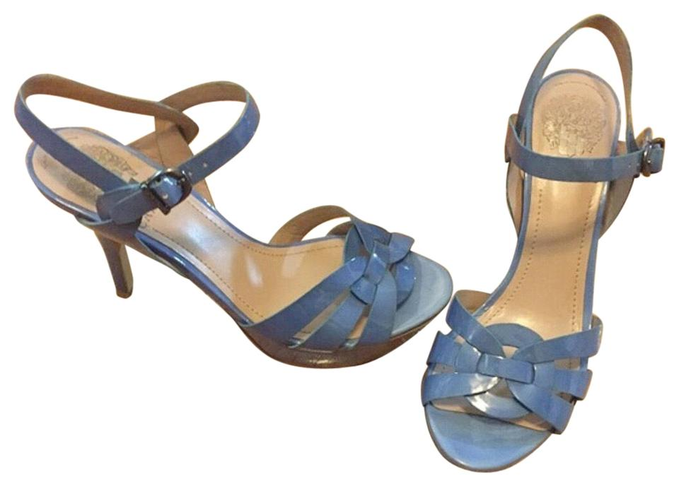 696b1be20d1 Vince Camuto Periwinkle Blue Patent Leather Sandals Platforms. Size  US 6  ...