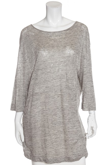 Preload https://item2.tradesy.com/images/by-malene-birger-grey-knit-medium-tunic-size-10-m-23661421-0-0.jpg?width=400&height=650