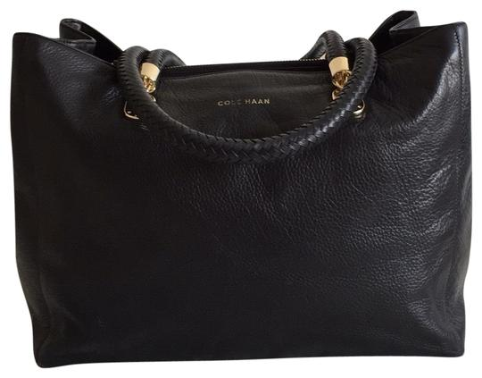 Preload https://item5.tradesy.com/images/cole-haan-braided-handle-black-leather-tote-23661424-0-1.jpg?width=440&height=440