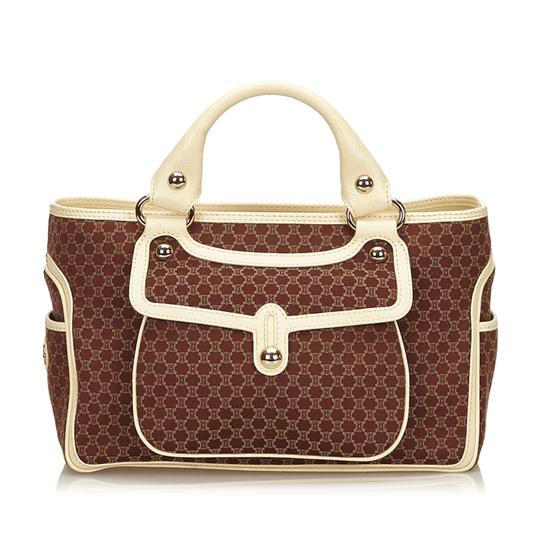 Preload https://item3.tradesy.com/images/celine-boogie-macadam-brown-fabric-x-jacquard-x-leather-x-others-baguette-23661427-0-0.jpg?width=440&height=440