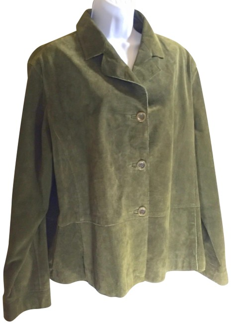 Preload https://item4.tradesy.com/images/chico-s-moss-green-genuine-suede-lined-shirt-jacket-size-16-xl-plus-0x-23661448-0-1.jpg?width=400&height=650