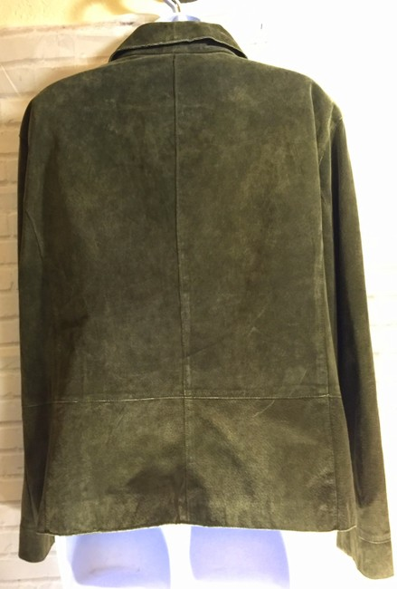 Chico's Moss Green Leather Jacket