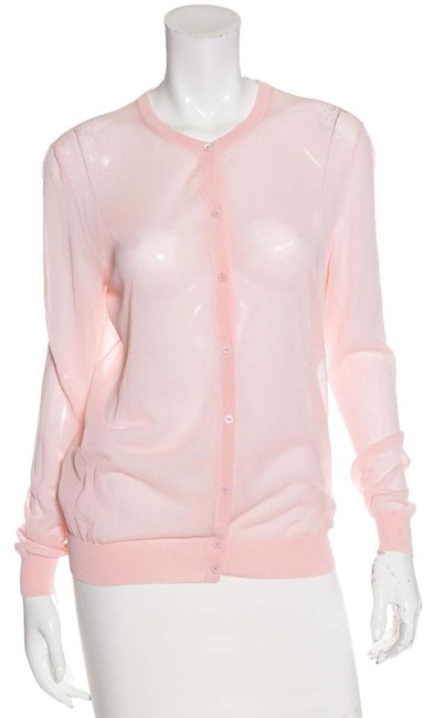 Preload https://item5.tradesy.com/images/nina-ricci-pink-sheer-knit-sweater-large-cardigan-size-12-l-23661509-0-1.jpg?width=400&height=650