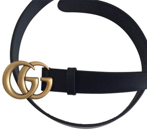 Gucci Gucci Marnont Belt with Double GG Buckle. Size 95.