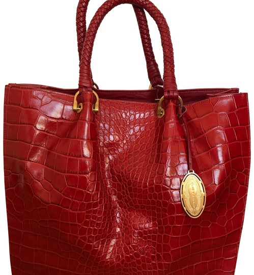 Preload https://item1.tradesy.com/images/elie-tahari-soho-croc-red-leather-tote-23661555-0-1.jpg?width=440&height=440