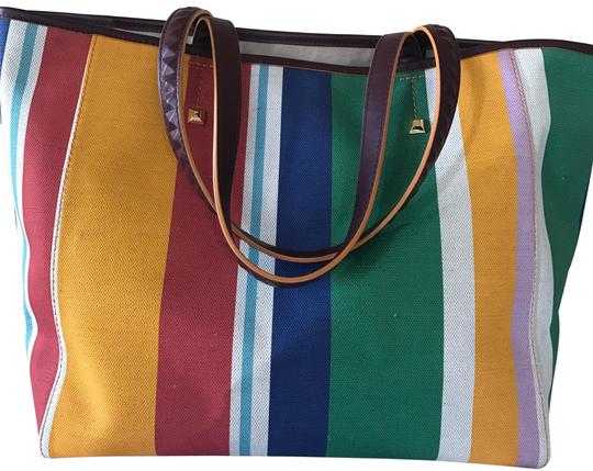 Preload https://item5.tradesy.com/images/mcm-striped-canvas-tote-23661564-0-1.jpg?width=440&height=440