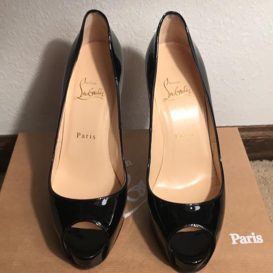 Christian Louboutin Black patent leather Platforms