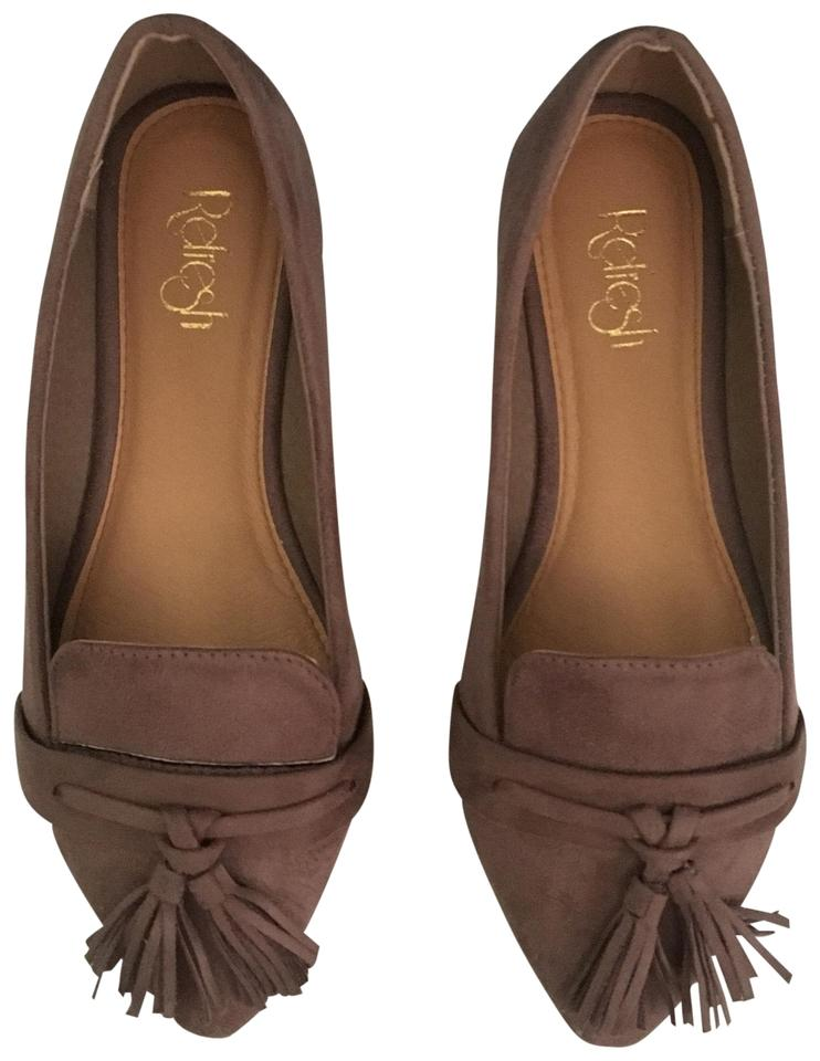 WOMENS Taupe Tassel widely Flats Highly appreciated and widely Tassel trusted in and out a12750
