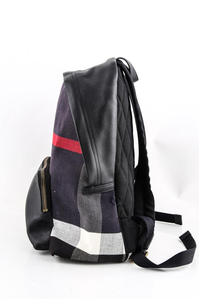 96a6755e9849 Burberry Check and Leather Black Coated Canvas Backpack - Tradesy
