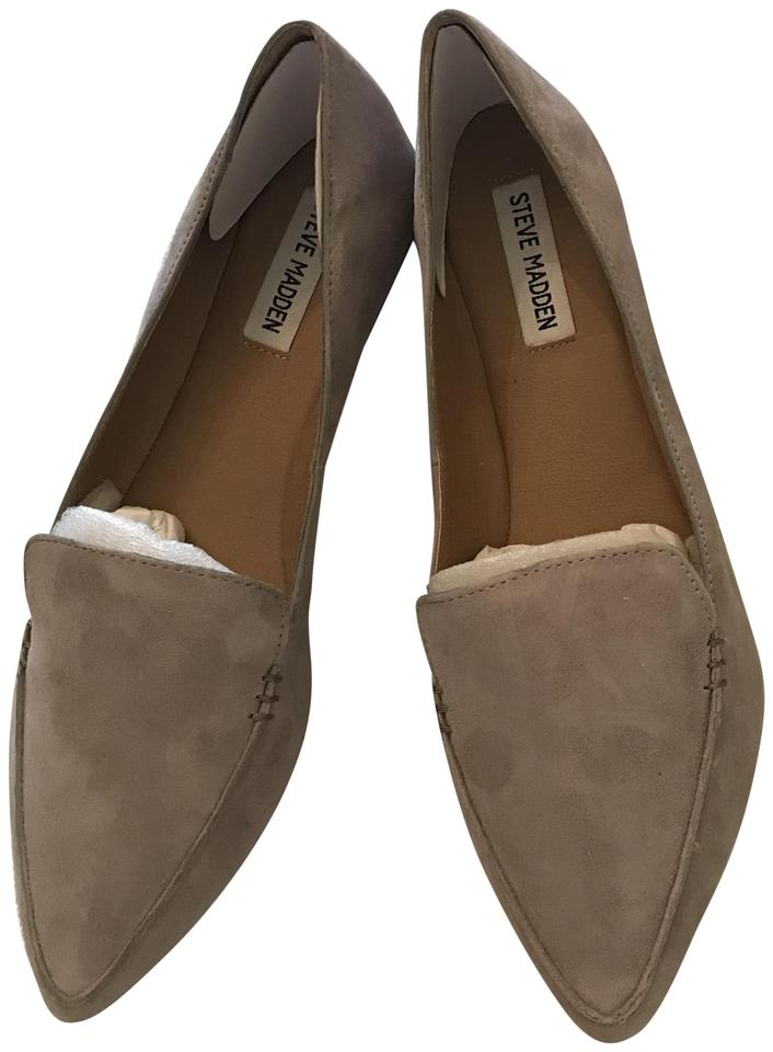 2e3878f49bf1 Steve Madden Grey Suede Feather Flats Size US 9.5 Regular (M, B ...