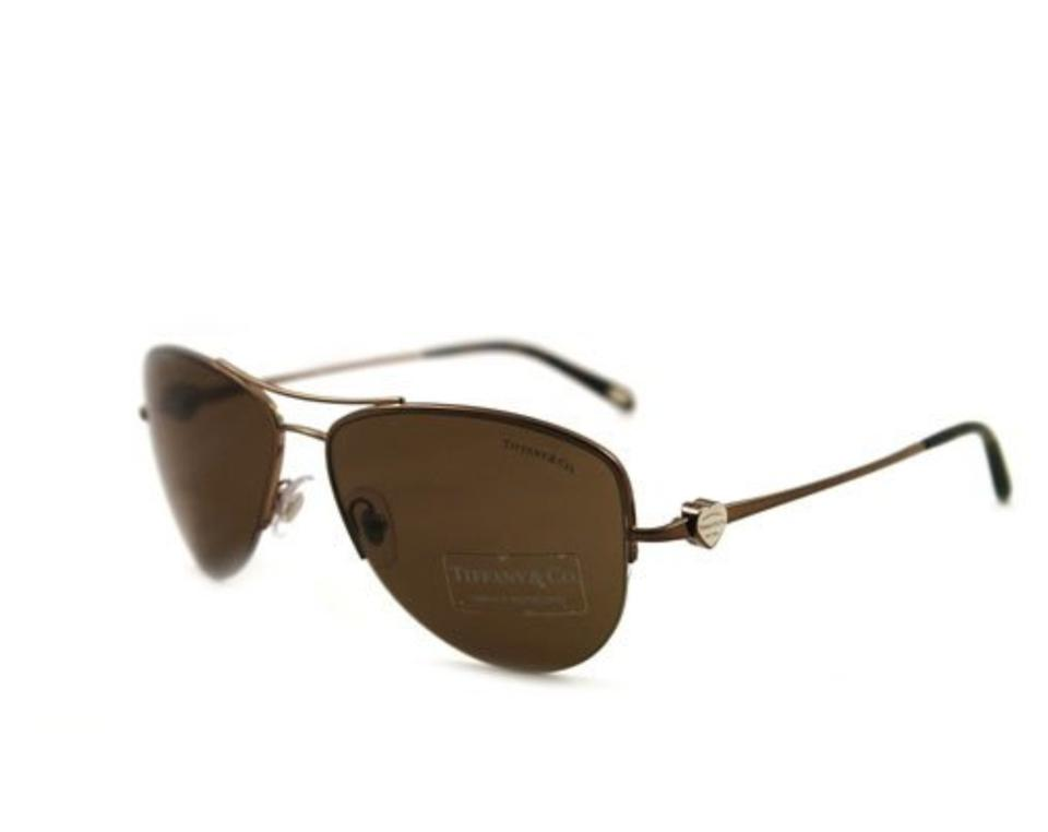 4c6444d51fbe Tiffany   Co. Bronze Brown Tortoise Tf 3021 Tf3021 Aviator Return To Heart  Metal Wire Gradient Sunglasses