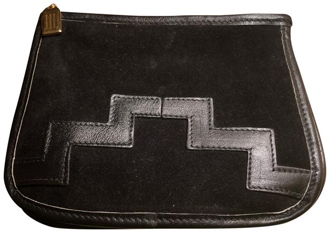 Item - Made In Italy Vintage Black Suede Leather Clutch