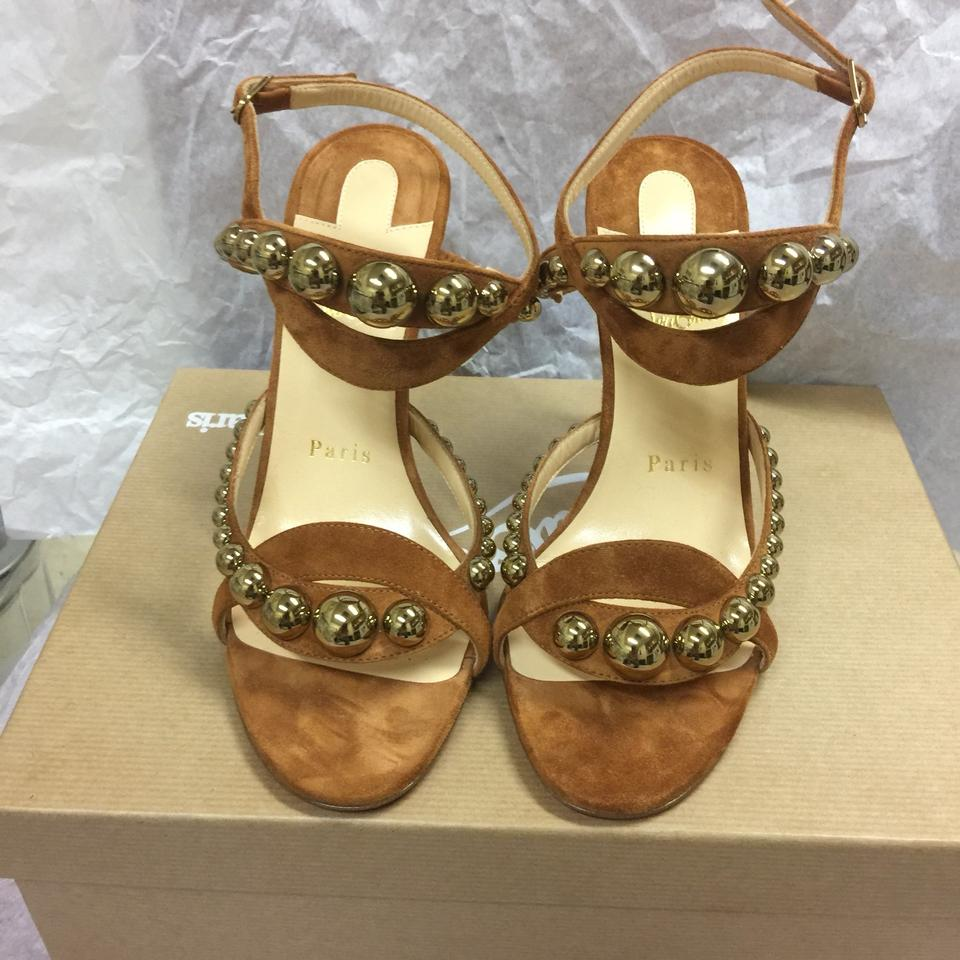 6290945f6323 Christian Louboutin Galleria 100 Leather   Suede 36.5 6 Sandals Size ...