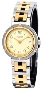 Hermès Clipper Gold Stainless Steel Two-Tone Watch