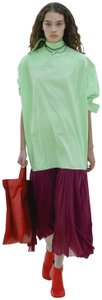 Light Neon Green Wine Maxi Dress by Céline