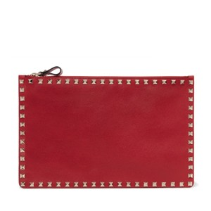 e1b1409495 Added to Shopping Bag. Valentino Clutch. Valentino Rockstud Leather Pouch  Clutch