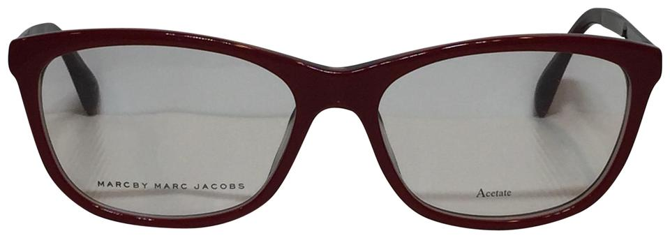 325f0f7cbbc9 Marc by Marc Jacobs Marc by Marc Jacobs 634 A53 red plastic gunmetal  temples Eyeglasses Image ...