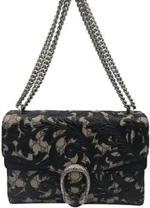 ac6a90431ed8 Added to Shopping Bag. Gucci Shoulder Bag. Gucci Dionysus Arabesque Large Black  Leather ...