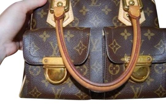 Preload https://item4.tradesy.com/images/louis-vuitton-manhattan-monogram-pm-brown-canvasleather-satchel-2366338-0-3.jpg?width=440&height=440