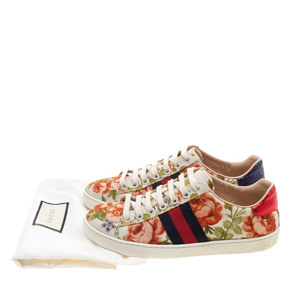 d647fde34f0 Gucci Multicolor For Net A Porter Floral Printed Canvas New Ace Low Top Sneakers  Sneakers Size EU 35 (Approx. US 5) Regular (M