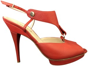 Escada Leather Red Sandals