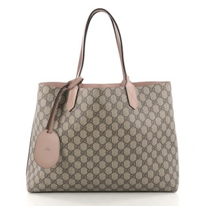 Gucci Leather Tote in Taupe