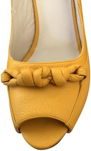 Escada Leather Mustard Sandals