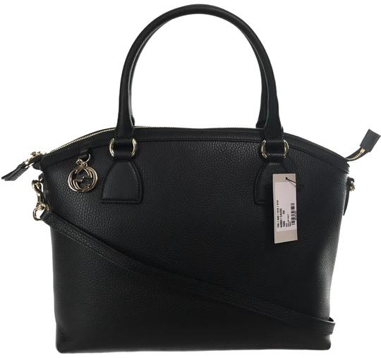 d5837cf4770f gucci 449651 convertible with interlocking g charm black leather satchel  52% off ret... TRADESY
