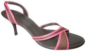 Cole Haan Leather Textile brown & pink Sandals
