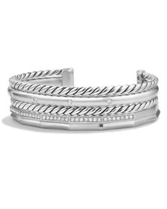 David Yurman Slip On Bangle Bracelet Cuff Stax Collection 0.50cts (17962)
