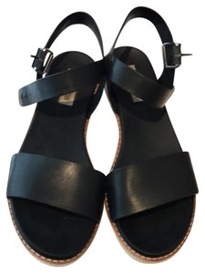 Steve Madden Casual Comfortable Leather Black Sandals