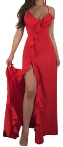 Red Maxi Dress by Luxxel