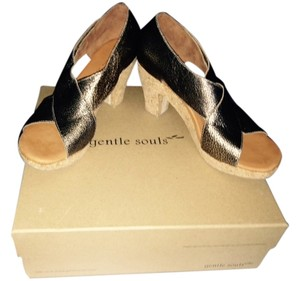 Gentle Souls Platform Sandals Antique Gold Platforms