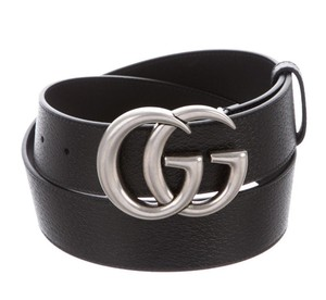 900c1e15d0d Gucci Black Leather with Double G Buckle Belt - Tradesy