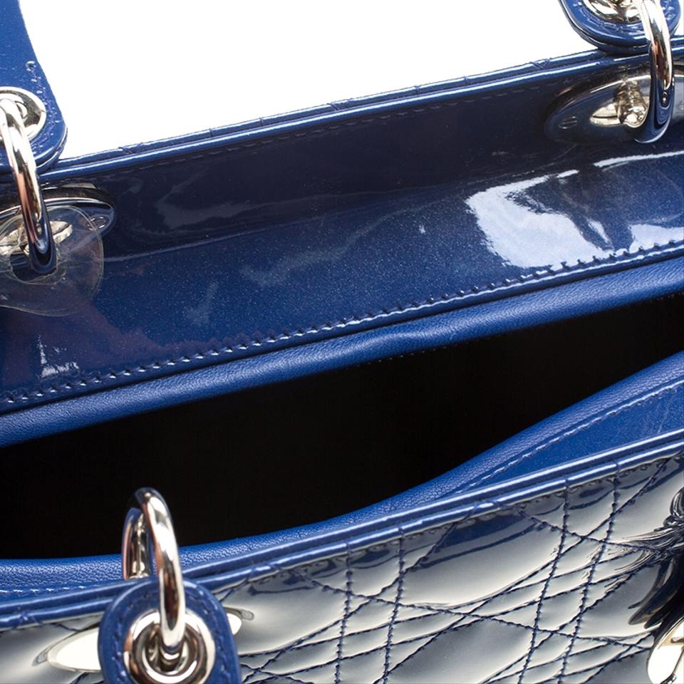 Large Dior Patent Leather Tote Lady Blue Dior qFnxa6