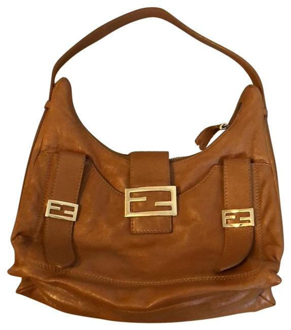Item - Saddle Brown Lambskin Leather Hobo Bag