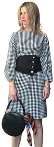 Tibi Belted Gingham Dress