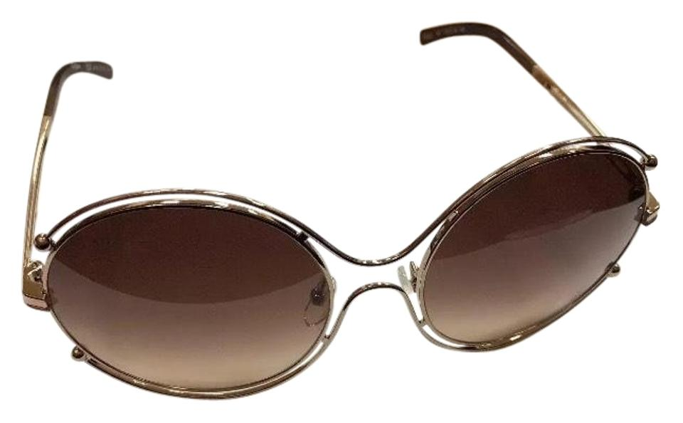 c31ef9e22a19 Chloé Ce122s 786 Rose Gold Brown Sunglasses - Tradesy