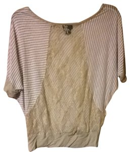 Wet Seal Top Beige/off White