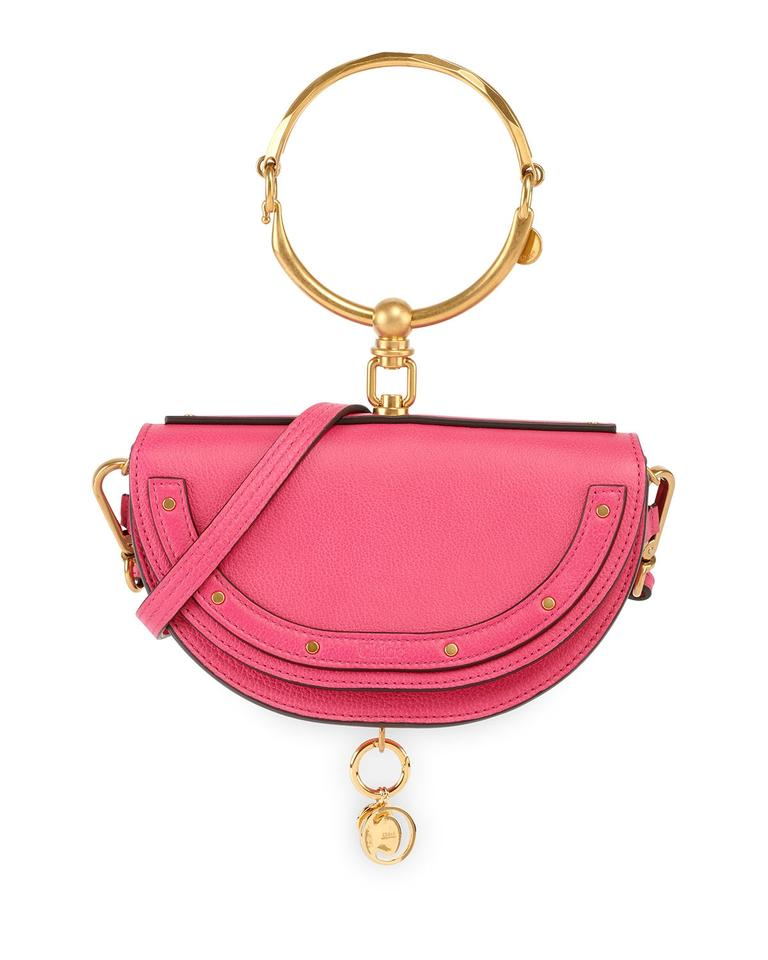 18b08367b659a Chloé Nile Small Bracelet Minaudiere Fuchsia Rose (Pink Red) Leather ...