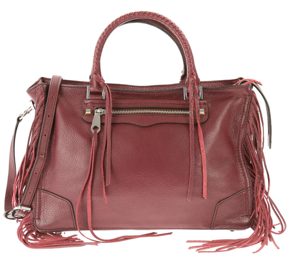 dc50d819ee9b4 Rebecca Minkoff Fringed Regan Oxblood Red Leather Satchel - Tradesy