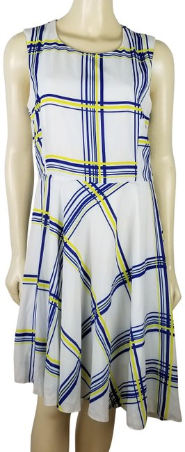 Preload https://img-static.tradesy.com/item/23664824/abs-by-allen-schwartz-white-blue-and-yellow-abs-sleeveless-comfortable-polyester-summer-mid-length-s-0-1-650-650.jpg