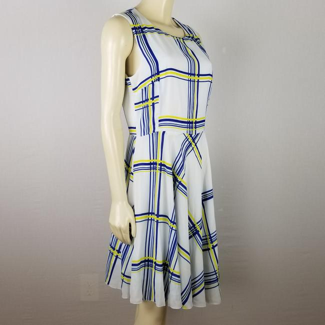 A.B.S. by Allen Schwartz short dress white, blue and yellow Summer Sleeveless M on Tradesy Image 1